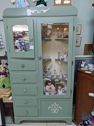 Green Painted Repurposed Vintage Wardrobe  WTT-189-15