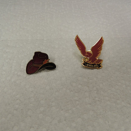 Two Lapel Pins (one is CHI-HI)