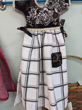 Handcrafted Black and White Dress Tea Towel WTT-57-2020