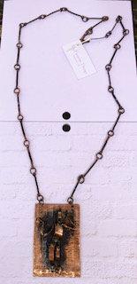 Mid-century Modern Copper necklace