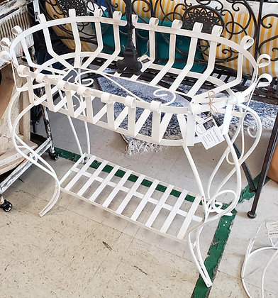 White Metal Flower Stand