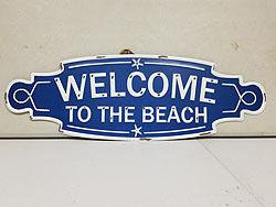 WELCOME TO THE BEACH MTL SIGN -30071073