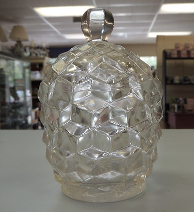 """6.5"""" Clear Glass Candy Dish w/ Lid"""
