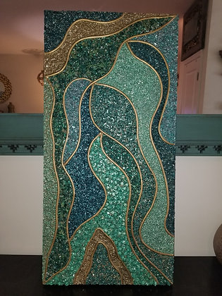 Original Textured Glass Wall Art