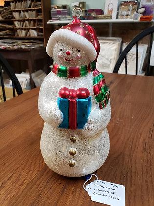 """9"""" Vintage Snowman"""