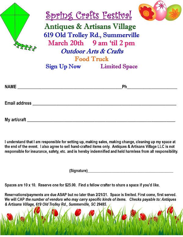 crafts festival flyer spring 2021 regist