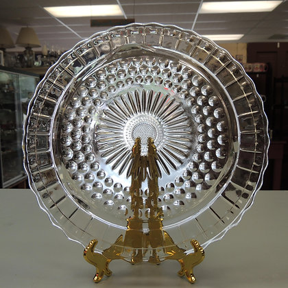 """8.5"""" Clear Glass Serving/Cake Plate"""