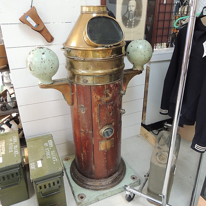 "54"" Ships Teak & Brass Binnacle"