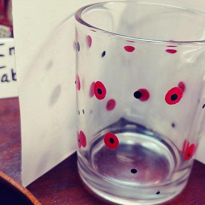 Red/black Dotted Votive Candle Holder