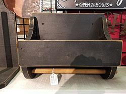 BLACK WOOD PAPER TOWEL HOLDER -400017