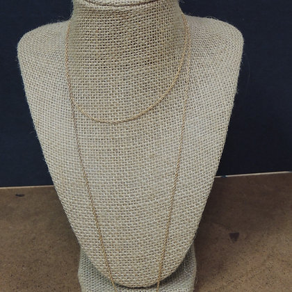 "36"" Fine Gold Tone Chain Necklase w/ Heavy Pendent"