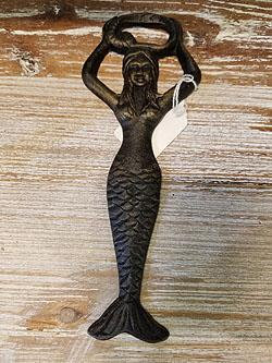 "Cast Iron Mermaid Bottle Opener 7"" - 505875"