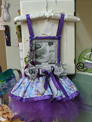 """Handcrafted Purple and Silver Fairies Tutu Frame (5"""" x7"""") WTT-18-18"""
