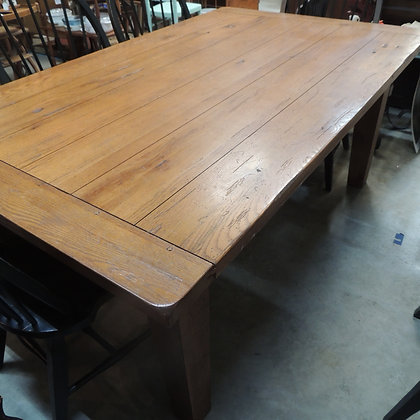 Oversize Heavy Farm Table & Chairs