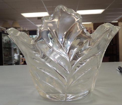 Telaflora 24% Lead Crystal Leaf Dish