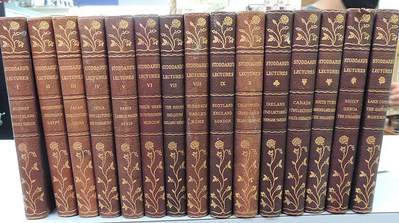 Complete 15 Volume Book Series of Stoddard's Lectures