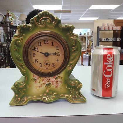 "7.5"" Green Ceramic Clock"