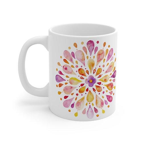Watercolor Mandala Purple Mug 11oz