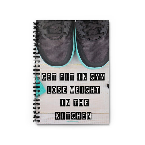 Motivational Fitness Quote Spiral Notebook - Ruled Line 5x8
