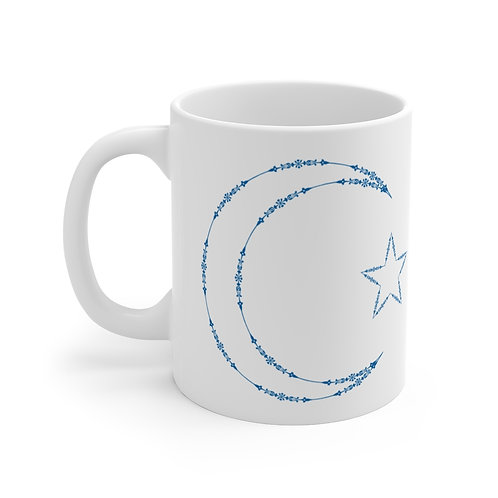 Blue Crescent Moon Mug 11oz