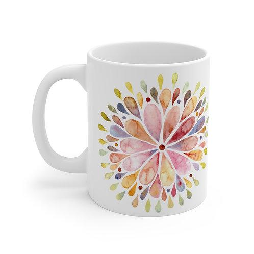 Watercolor Mandala Mug 11oz