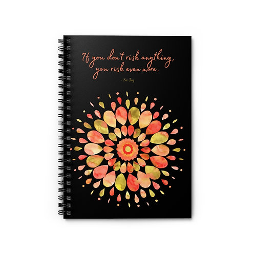 Erica Jong Quote | Spiral Notebook - Ruled Line