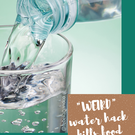 """There's a """"WEIRD water hack"""" that crushes cravings and melts fat..."""