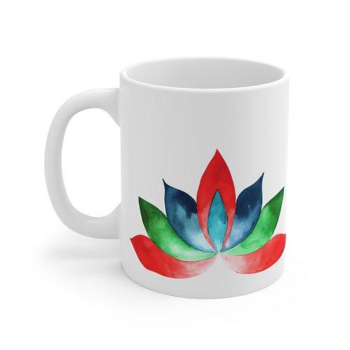 Watercolor Mandala Lotus Blossom Mug 11oz
