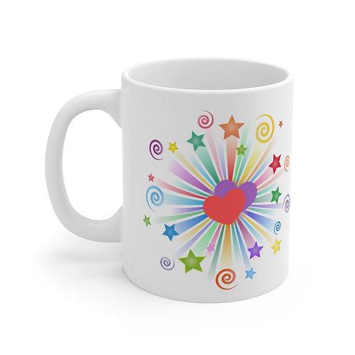 Swirls, Stars, & Hearts Mug 11oz