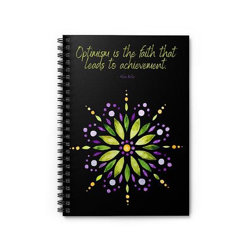 Helen Keller Quote | Spiral Notebook - Ruled Line