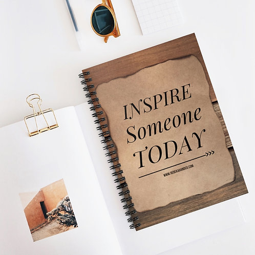 Inspire Someone TODAY | 5x8 Ruled Line Spiral Notebook