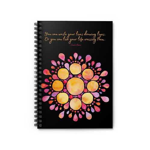 Shonda Rhimes Quote | Spiral Notebook - Ruled Line