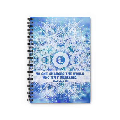 Obsessed Quote | Spiral Notebook - Ruled Line