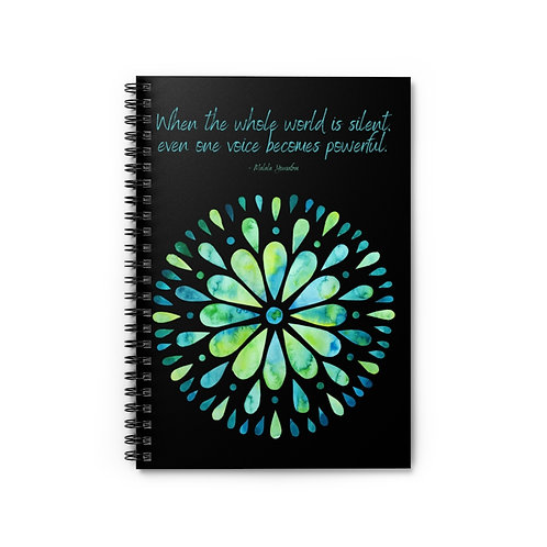 Powerful Voice Quote | Spiral Notebook - Ruled Line