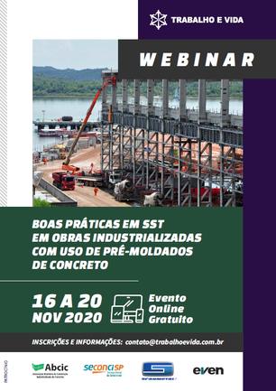 Webnar - Boas Práticas em SST em Obras Industrializadas com uso de Pré-Moldados de Concreto