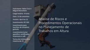 Analise de Riscos e Procedimentos Operacionais no Planejamento de Trabalhos em Altura - Fabio Cruz e