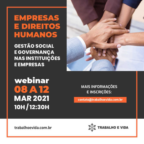 Webnar - Gestão Social e Governança nas Instituições e Empresas
