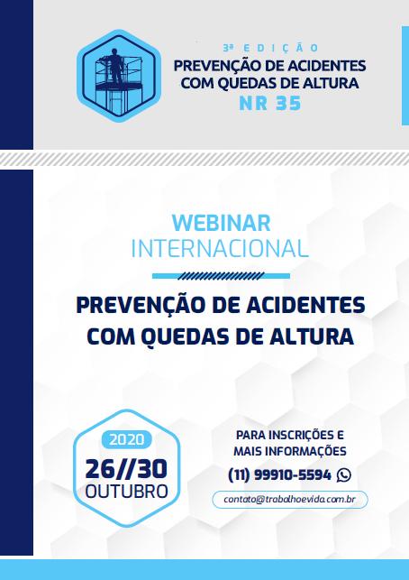 Webnar Internacional Prevenção de Acidentes com Quedas de Altura - NR 35