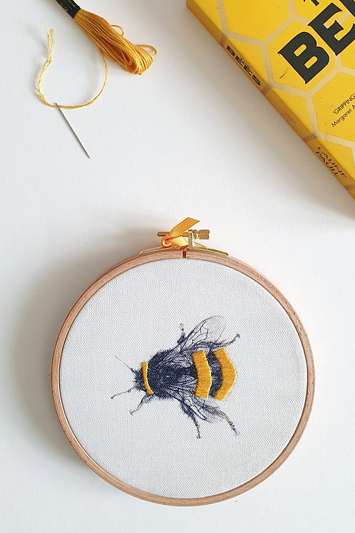 bumble bee embroidery