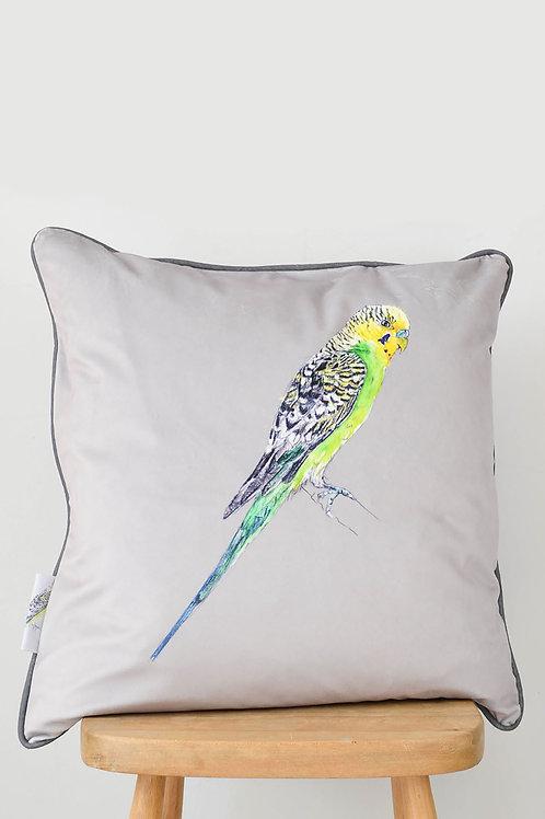 Velvet budgie cushion