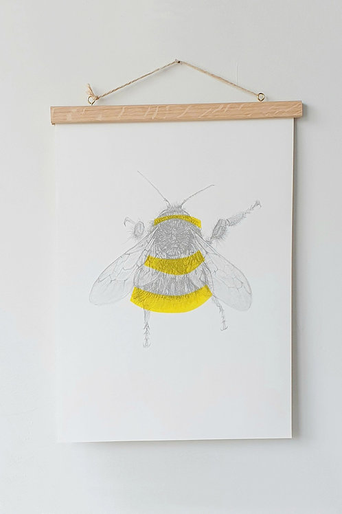 Bee riso print