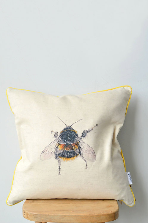 organic cotton drill bee cushion