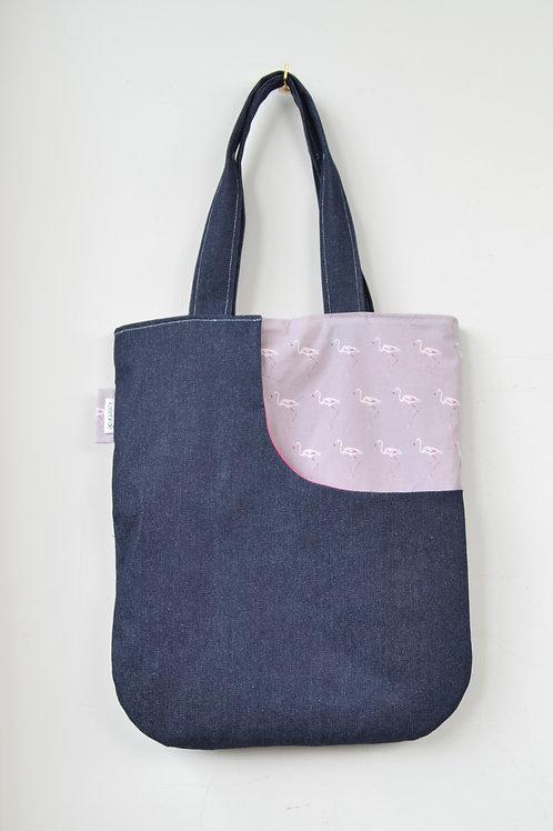 flamingo print tote bag