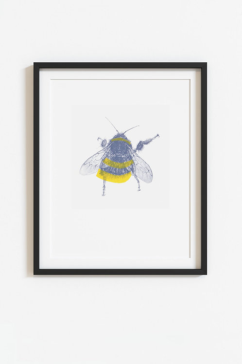 bee screenprint (unframed)
