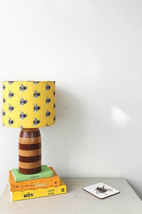 yellow bee print lampshade