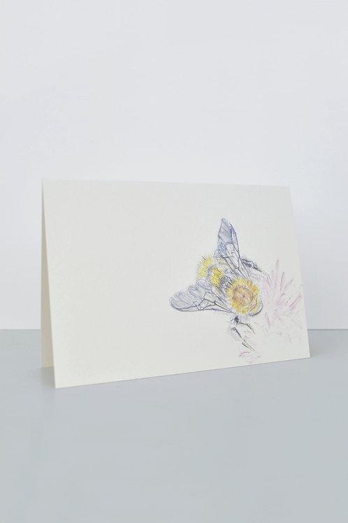 bee on flower card