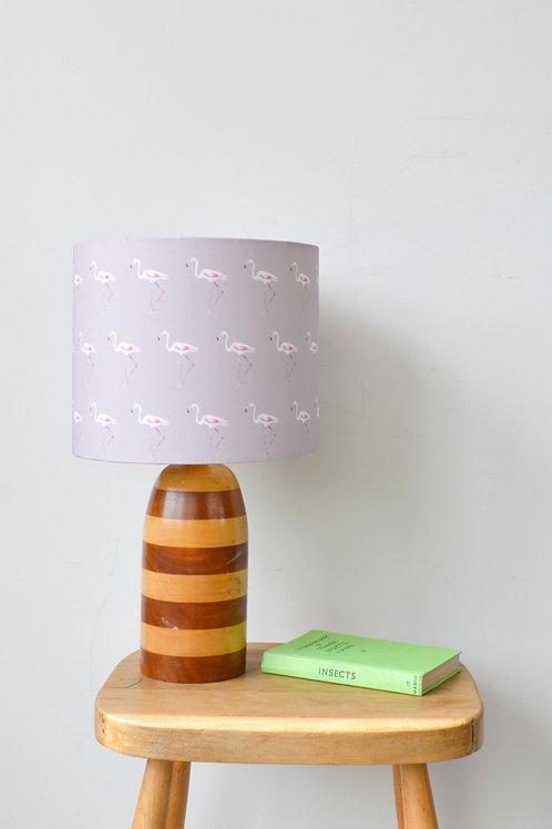 pink flamingo print lampshade