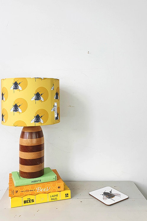 Bee and circle lampshade