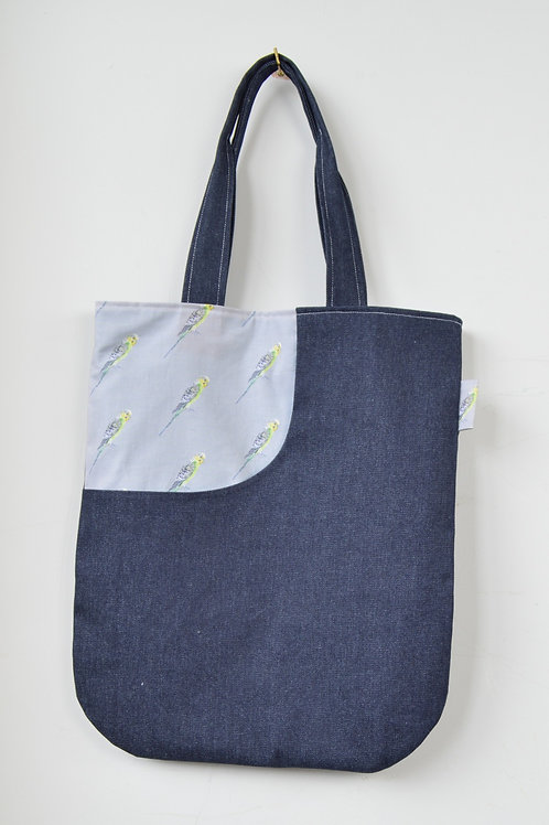budgie print tote bag