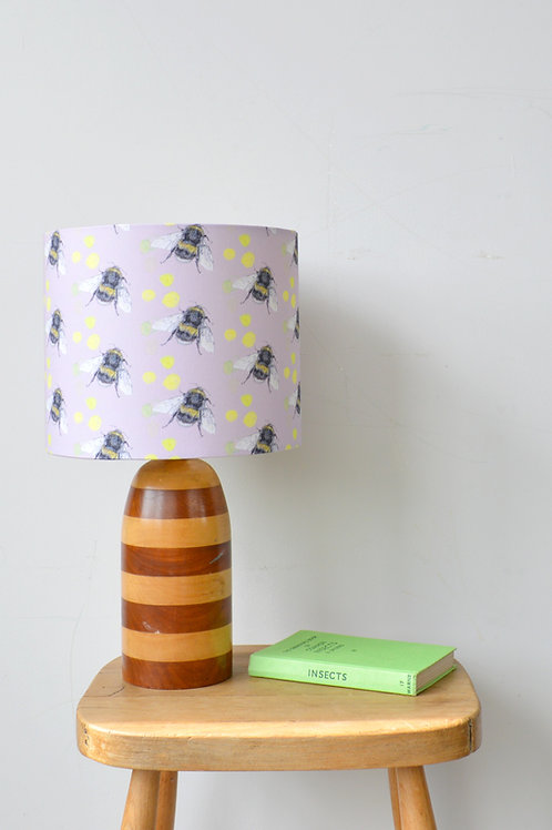 dusty pink bee pattern lampshade